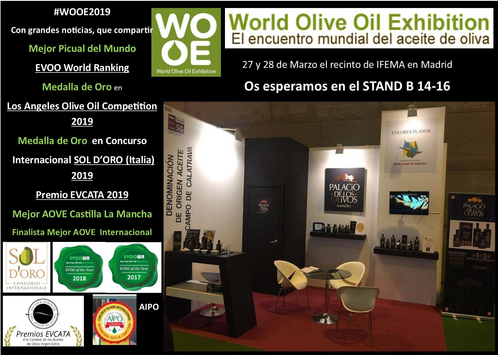 Encuentro Mundial del Aceite de Oliva el 27-28 marzo 2019