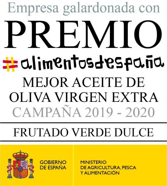 Sello Premio Alimentos de España 2020 Picual